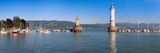 Entrance of the Harbor with the Bavarian Lion and the Lighthouse, Lindau, Lake Constance, Bavari... Photographic Print by  Panoramic Images