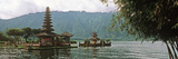 Temple at the Waterfront, Pura Ulu Danau Temple, Lake Bratan, Bali, Indonesia Photographic Print by  Panoramic Images