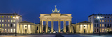 City Gate Lit Up at Night, Brandenburg Gate, Pariser Platz, Berlin, Germany Photographic Print by  Panoramic Images