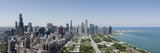 City Skyline from South End of Grant Park, Chicago, Lake Michigan, Cook County, Illinois 2009 Photographic Print by  Panoramic Images