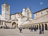 Tourists at a Church, Basilica of San Francesco D&#39;Assisi, Assisi, Perugia Province, Umbria, Italy Photographic Print by Panoramic Images 