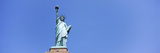Low Angle View of a Statue, Statue of Liberty, Liberty Island, New York City, New York State, USA Photographic Print by  Panoramic Images