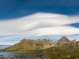 Lenticular Clouds Forming over Cooper Bay, South Georgia Island Photographic Print by Panoramic Images