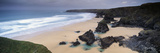 Rock Formations on the Coast, Carnewas and Bedruthan Steps, St. Eval, Cornwall, England Photographic Print by  Panoramic Images