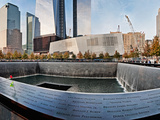 911 Memorial Along Side the South Tower Footprint Memorial, New York City, New York State, USA Photographic Print by  Panoramic Images