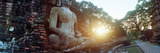 Statue of Buddha at Sunset, Sukhothai Historical Park, Sukhothai, Thailand Photographic Print by  Panoramic Images