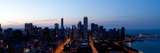 High Angle View of a City at Dusk, Chicago, Cook County, Illinois, USA 2009 Photographic Print by  Panoramic Images