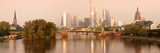 City at the Waterfront, Main River, Frankfurt, Hesse, Germany Fotodruck von  Panoramic Images