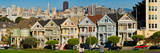 Famous Row of Victorian Houses Called Painted Ladies, San Francisco, California, USA Photographic Print by  Panoramic Images
