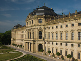 Facade of a Palace, Wurzburg Residence, Wurzburg, Lower Franconia, Bavaria, Germany Photographic Print