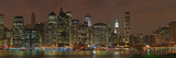 Skyscrapers at the Waterfront, Lower Manhattan, Manhattan, New York City, New York State, USA Photographic Print by  Panoramic Images