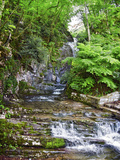 Stream Flowing Through Rocks, Villa Pliniana, Torno, Lake Como, Lombardy, Italy Photographic Print