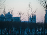 Distant View of Ice Buildings of the Harbin International Ice and Snow Sculpture Festival, Harbi... Photographic Print