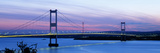 Bridge across a River at Dusk, Severn Bridge, Aust, Gloucestershire, England Photographic Print by  Panoramic Images