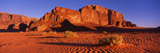 Rock Formations in a Desert, Jebel Um Ishrin, Wadi Rum, Jordan Photographic Print by  Panoramic Images