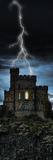 Castle Getting Hit by Lightning Photographic Print by  Panoramic Images