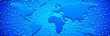 Water Drops Forming Continents Photographic Print by  Panoramic Images