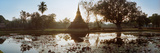 Ruins of a Temple at Dusk, Sukhothai Historical Park, Sukhothai, Thailand Photographic Print by  Panoramic Images