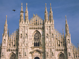 Low Angle View of a Cathedral, Duomo Di Milano, Milan, Lombardy, Italy Photographic Print