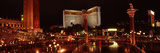 Hotel Lit Up at Night, the Mirage, the Strip, Las Vegas, Nevada, USA Photographic Print by  Panoramic Images