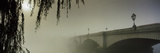 Putney Bridge During Fog, Thames River, London, England Photographic Print by  Panoramic Images