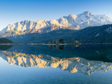 Wetterstein Mountains and Zugspitze Mountain Reflecting in Lake Eibsee, Bavaria, Germany Photographic Print by  Panoramic Images