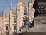 Church in a City, Duomo Di Milano, Milan, Lombardy, Italy Photographic Print