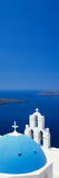 High Angle View of a Church, Firostefani, Santorini, Cyclades Islands, Greece Fotografie-Druck von Panoramic Images