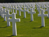 Us Military Cemetery Containing the Graves of More Than 5000 US War Dead from WW2, Hamm, Luxembo... Photographic Print