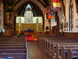 Interiors of a Church, St. Paul's Anglican Church, Esquimalt Road, Victoria, British Columbia, C... Photographic Print