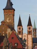 Buildings in a City, Wurzburg, Lower Franconia, Bavaria, Germany Photographic Print