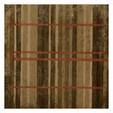 Burnt Orange Stripes Prints by Jace Grey