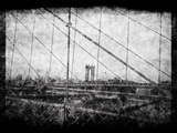 Through Roebling's Grid Print by Evan Morris Cohen