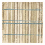 Blue Cream Stripes Print by Jace Grey
