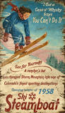 Steamboat Springs Vintage Wood Sign