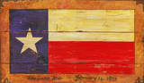 Texas Flag Vintage Wood Sign