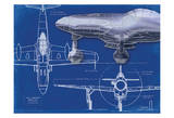 Airplane Blueprint 2 Prints by Carole Stevens