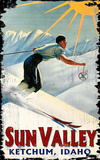 Sun Valley Ski Vintage Wood Sign