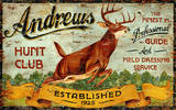 Hunt Club Vintage Wood Sign