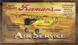 Freemans Aviation Vintage Wood Sign