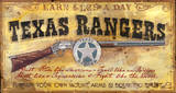 Texas Rangers Vintage Wood Sign