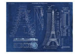 Eiffel Tower Rendering 1 Print by Carole Stevens