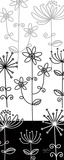 Black and White Garden Panel I Posters by Mary Jones