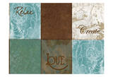 Placemats Blue Brown Posters by Carol Kemery