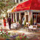 Caf&#233; Afternoon II Print by Nan 
