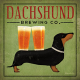 Dachshund Brewing Co. Poster by Ryan Fowler