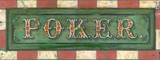 Poker Vintage Wood Sign