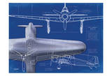 Airplane Blueprint 1 Posters by Carole Stevens