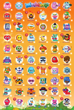 Moshi Monsters Tick Chart 2 Posters