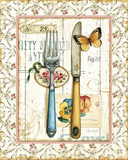 Rose Garden Utensils I Print by Lisa Audit